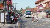 歩行者 : Tourists on streets of Phuket 動画素材