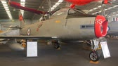 rolls royce : CALOUNDRA, AUSTRALIA - December 4 2015: The North American F-86 Sabre, sometimes called the Sabrejet, was a transonic jet fighter aircraft. It was one of the most important fighter aircraft in the Korean War. Stock Footage