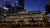 fullerton : 4K night scene of Singapore landscape