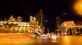 roundabout : Shenyang,China-Aug 1,2014: The transportation and buildings around Zhongshan Square at night in Shenyang, China