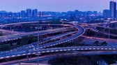 The Special Effect Of Busy Traffic View At The Sihui Flyover Of Beijing, China. Vídeos