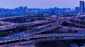 The Night View Of Busy Traffic At The Sihui Flyover Of Beijing, China.
