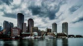 Бостон : The modern buildings at the Atlantic harbour, Boston, USA