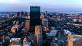 Aerial view of the Boston from Prudential Center, Boston, USA
