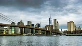 Manhattan skyline and the Brooklyn Bridge, New York City, NY