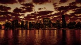 At evening, the Manhattan skyline, New York City, NY