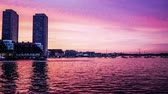 Бостон : Timelapse of fantastic glow above the Atlantic, Boston Стоковые видеозаписи