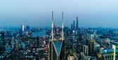 Šanghaj : Aerial view of the skyline and downtown of Shanghai, China Dostupné videozáznamy