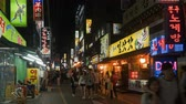 электроника : Timelapse of the customers walking in the shopping street, Busan, Korea