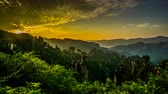 всемирного наследия : Timelapse of the early morning in Zhangjiajie national park