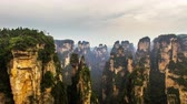 всемирного наследия : aerial view of landscape in zhangjiajie national forest park