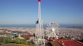 roundabout : BARCELONA, SPAIN - AUGUST 29, 2015:  Amusement Park  at Tibidabo  in Barcelona, Spain.  Park is oldest amusement park in Spain.
