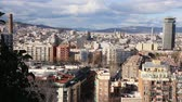 ordinary : BARCELONA, SPAIN - FEBRUARY 28, 2016: General view of Barcelona from high point. Spain Stock Footage