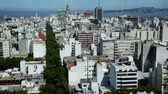 административное здание : Panoramic view of buildings and streets of capital of Uruguay, Montevideo. Uruguay, South America