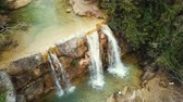 okolní : Waterfall in Catalonia surrounded by beautiful forests and valleys