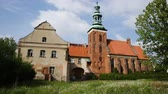 john : Picture of St. Jana Chrzciciela old landmark in Gniezno at sunny day, Poland Stock Footage