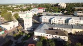 provincial : MUROM, RUSSIA - JUNE 15, 2018: Panoramic aerial view of the center of Murom city with water tower, Russia