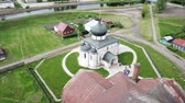 ortodoksluk : Aerial view of St. George Cathedral cathedral in Yuryev-Polsky, Russia