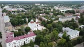 world locations : Panoramic aerial view of district of Gus-Khrustalny, Vladimir region, Russia