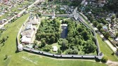 крещение : Aerial panoramic view of the architectural ensemble of Goritsky Monastery of Dormition in Pereslavl-Zalessky, Russia
