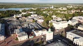 taşra : MUROM, RUSSIA - JUNE 15, 2018: Panoramic aerial view of the center of Murom city with water tower, Russia