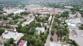 world locations : Panoramic aerial view of the city of Gus-Khrustalny, Vladimir region, Russia