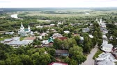 world locations : Summer aerial view of old district of Vladimir with Klyazma, Russia