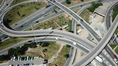 transfer station : View on car interchange of Barcelona in the Spain. Stock Footage