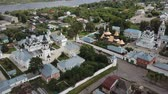 ortodoksluk : Aerial view of russian landmark Trinity and Annunciation Monasteries in Murom Stok Video
