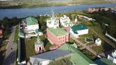 православие : Panoramic aerial view of Spaso-Preobrazhensky monastery and river in Murom