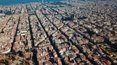 каталонский : View from drone of Eixample in Barcelona at sunny summer day
