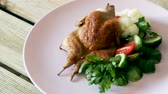 couve flor : Delicious roasted small poultry with pink poultry