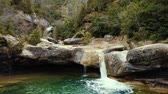 okolní : Pure mountain creek with green water attractive place in Spain