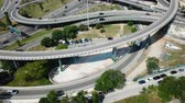 View on car interchange of Barcelona in the Spain. Stock Footage