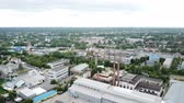 Panoramic aerial view of the city of Gus-Khrustalny, Vladimir region, Russia
