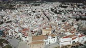 Aerial view of the town of Sitges in Spain
