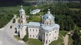 peculiar : Peculiar architecture of Trinity Cathedral in Gus-Zhelezny, combining elements of baroque, classicism and pseudo-Gothic, Russia Stock Footage