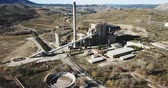 яд : Closed thermal power plant in Escucha. Spain