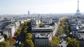 triumphal arch : Picturesque panoramic view of Paris from Eiffel Tower from roof of Triumphal Arch, France