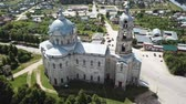 ortodoxo : Peculiar architecture of Trinity Cathedral in Gus-Zhelezny, combining elements of baroque, classicism and pseudo-Gothic, Russia Stock Footage