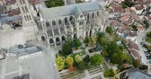 çini : Aerial view of Saint-Etienne Cathedral in Limoges, France