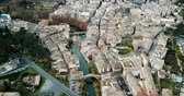 malebný : Aerial view of Estella-Lizarra - Spanish old town on Ega river