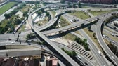 commute : View on car interchange of Barcelona in the Spain. Stock Footage