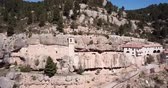 renacentista : Impressive religious complex Sanctuary Mara de Balas built in rock, Sorita, Castellon, Spain Archivo de Video