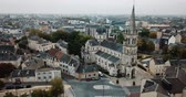 bell : LIMOGES, FRANCE - OCTOBER 07, 2018: Aerial view of the church of Our Lady, central France