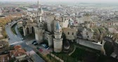provincie : Aerial view of the castle of the Palacio Real de Olite. Navarre. Spain Dostupné videozáznamy