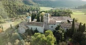 카탈 루나 : Aerial view of the cultural and touristic complex of Mon Sant Benet in Catalonia, Spain