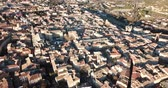 ordinary : Aerial view of the french city of Carpentras. Provence, France Stock Footage