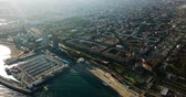 port of barcelona : Cityscape on the Mediterranean coast, Spain