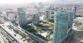 диагональ : Maritim del Poblenou on the Mediterranean coast, Spain Стоковые видеозаписи